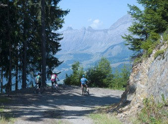 Mountain biking from Les Saisies