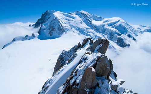 View of Mont Blanc from the Aiguille du Midi, Chamonix