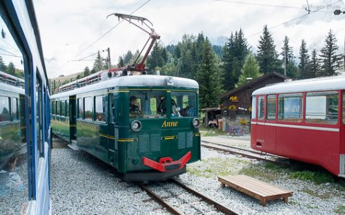 Mont Blanc Tramway at the Col du Volza.