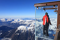 Aiguille du Midi, into the void