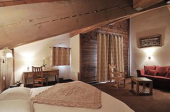Apartment interior at Hotel Carline, Belle Plagne, La Plagne, Paradiski, French Alps.