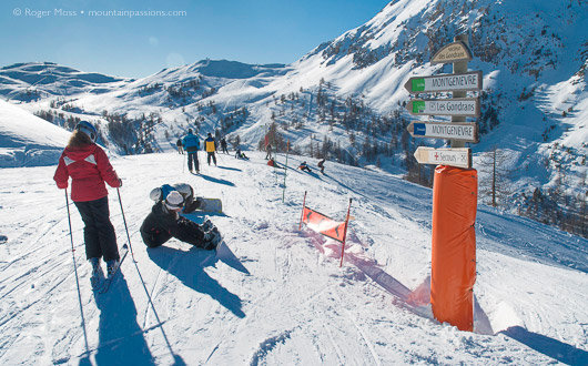 Montgenevre-skiers