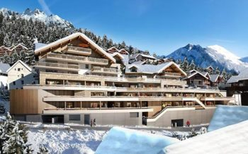 Residence le Saphir, self-catered apartments in Vaujany, French Alps - artists impression