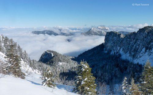 High view of the Massif de la Chartreuse