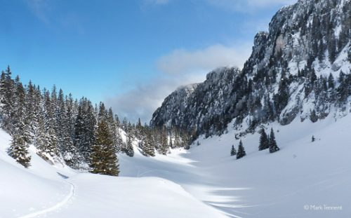 Snowy valley in the Massif de Chartreuse
