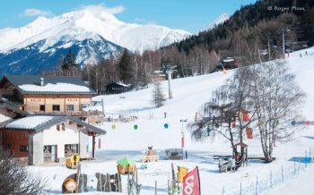 Beginners area and front de neige, La Norma
