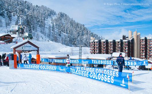 Colosses chairlift, La Plagne