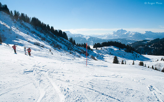 Red piste, Les Gets