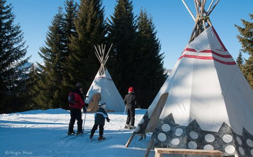 Teepee village for children, Les Gets