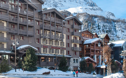 Val d'Isere centre of the ski village