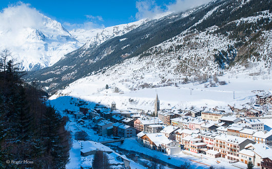 Lanslebourg village, Val Cenis Vanoise, Maurienne, French Alps