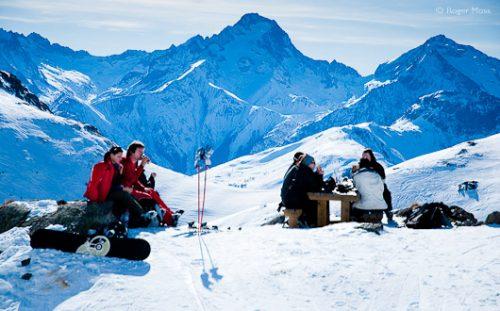 Picnic on La Sarenne piste, Alpe-d'Huez