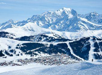 Les Saisies village from Mont Bisanne