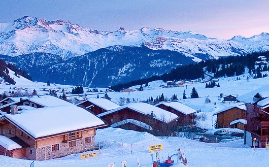 Les Saisies winter sunset