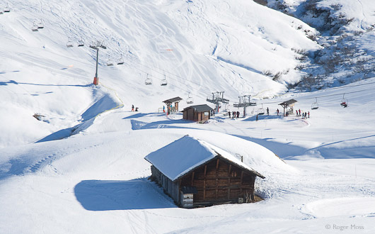 The Douce chairlift, Les Saisies.