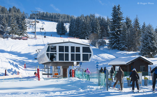 SuperMorzine is the gateway to routes to Avoriaz and beyond.
