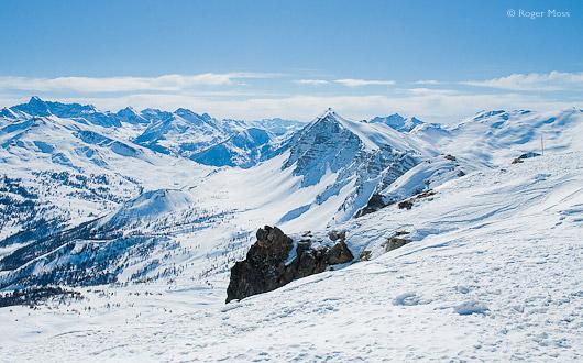 The Pic de Chabrières above Vars, at 2750m altitude.