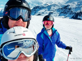 Paddy Daly and family skiing at Areches-Beaufort, French Alps