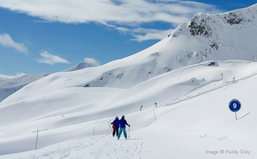 Quiet pistes and fresh snow at Areches-Beaufort, French Alps