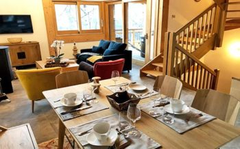 Typical interior of Chalets Caseblanche, St Marting de Belleville, French Alps
