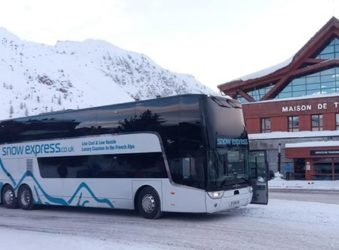 Snow Express coach, Tignes, French Alps